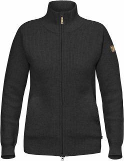 fjellreven Övik zip cardigan dame - dark grey