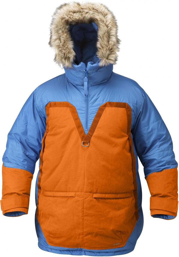 fjellreven polar parka - un blue - burnt orange