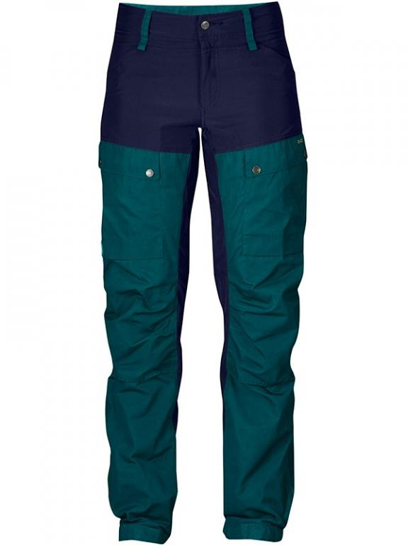 fjellreven keb bukse short dame - glacier green