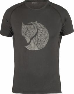 fjellreven abisko trail t-shirt print - dark grey