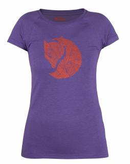 fjellreven abisko trail t-shirt print dame - purple