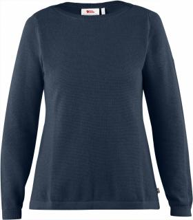 fjellreven high coast knit sweater dame - navy