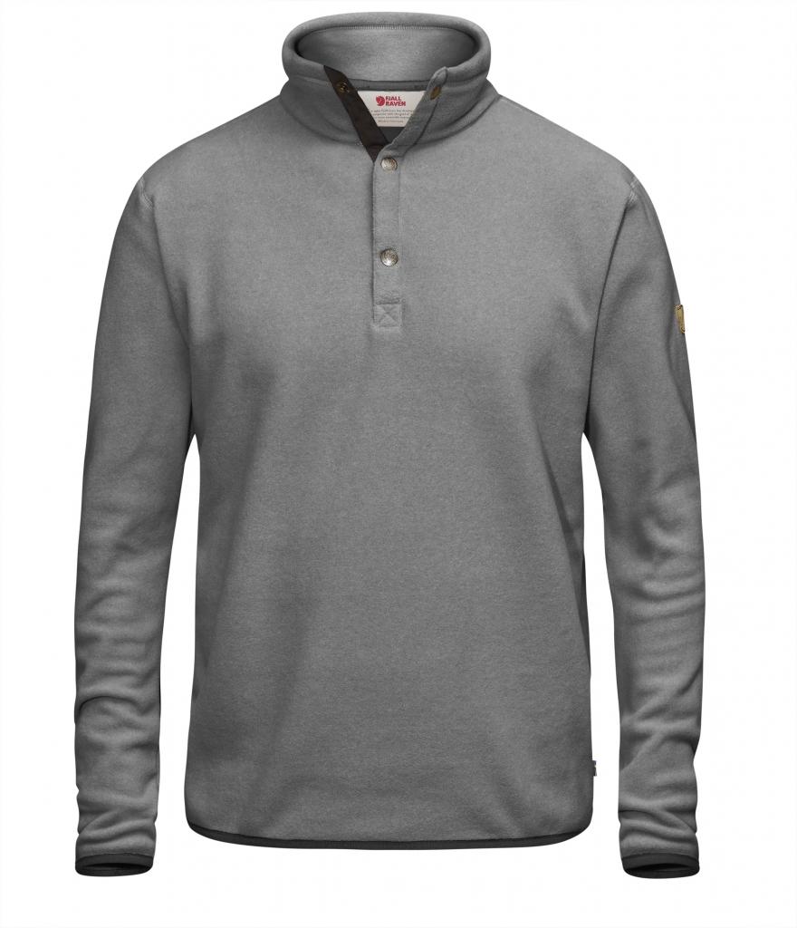 fjellreven Övik fleece sweater - grey