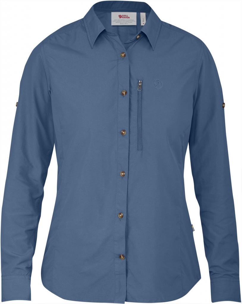 fjellreven abisko hike shirt ls dame - blue ridge