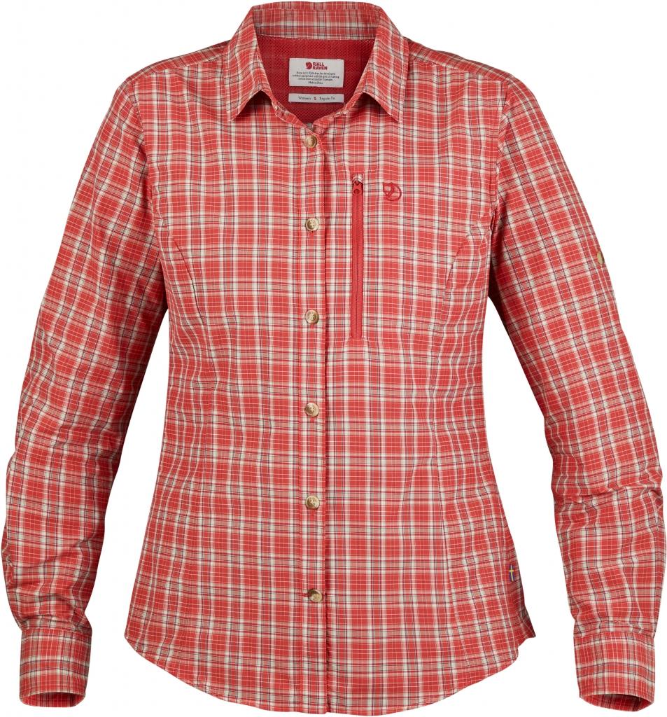 fjellreven abisko hike shirt ls dame - flame orange