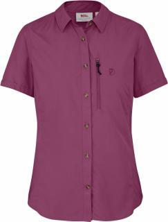 fjellreven abisko hike shirt ss dame - plum