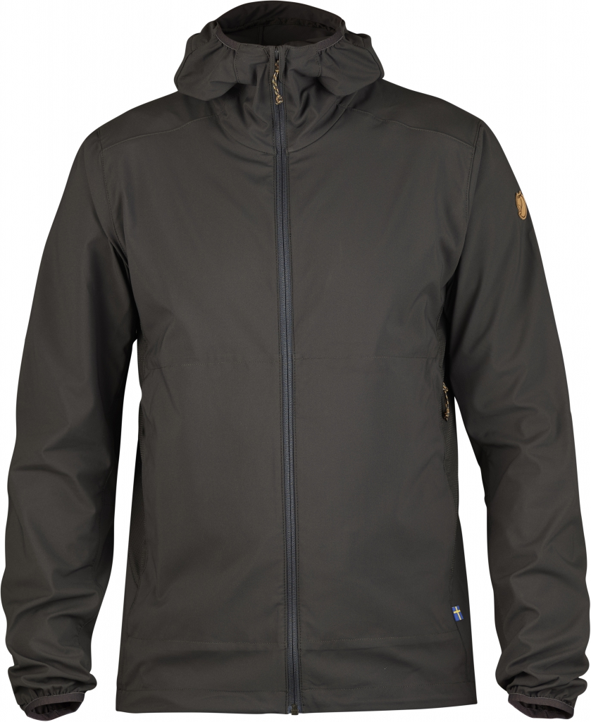 fjellreven abisko hybrid windbreaker - dark grey