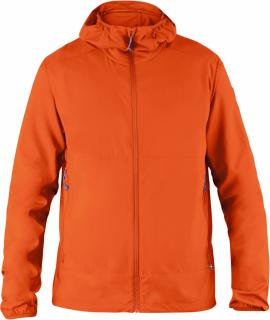 fjellreven abisko hybrid windbreaker - flame orange