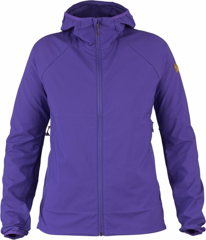 fjellreven abisko hybrid windbreaker dame - purple