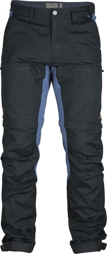 fjellreven abisko lite trekking zip-off bukse - dark navy-uncle blue