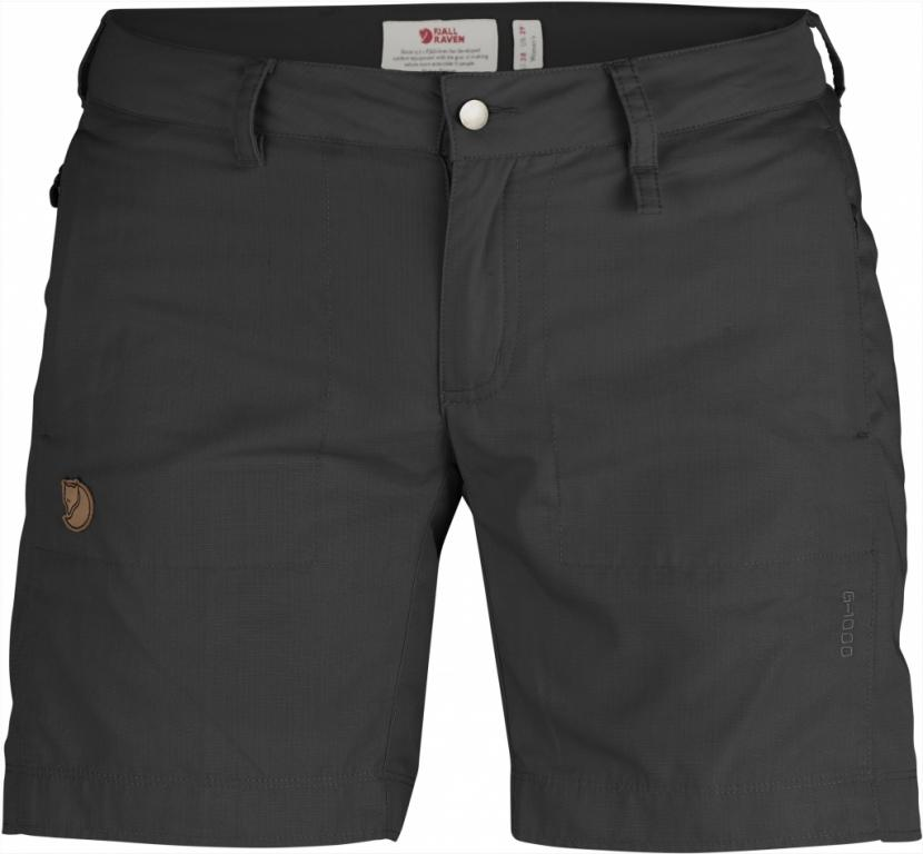 fjellreven abisko shade shorts dame - dark grey