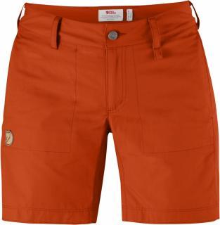 fjellreven abisko shade shorts dame - flame orange