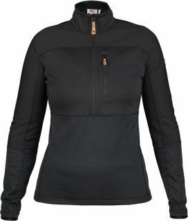 fjellreven abisko trail pullover dame - black