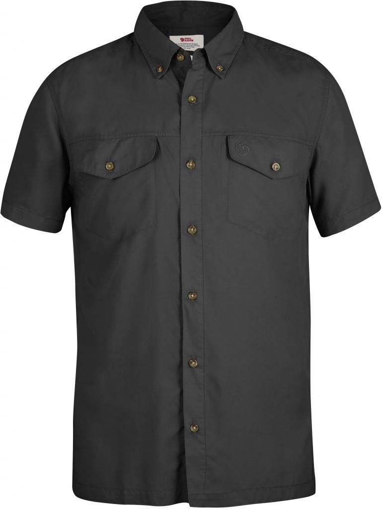 fjellreven abisko vent shirt ss - dark grey