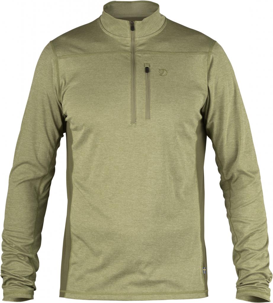 fjellreven abisko vent zip t-shirt ls - willow - green