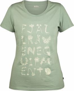 fjellreven alphabotanical t-shirt dame - ocean mist