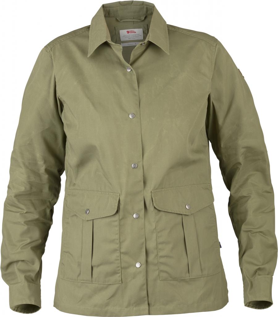 fjellreven greenland shirt jacket dame - green