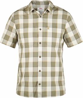 fjellreven high coast big check shirt ss - chalk white