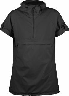 fjellreven high coast hooded shirt ss dame - dark grey