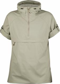 fjellreven high coast hooded shirt ss dame - limestone