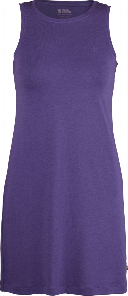 fjellreven high coast tank dress dame - purple