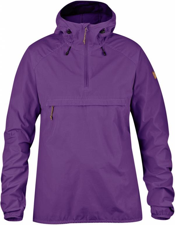fjellreven high coast wind anorakk dame - purple