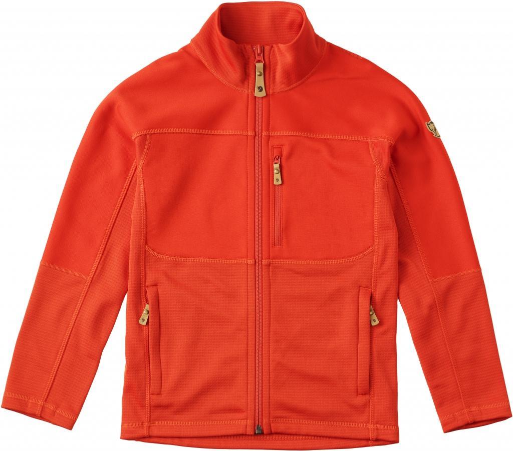 fjellreven kids abisko trail fleece - flame orange