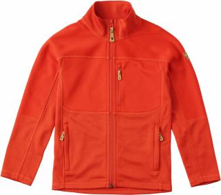 fjellreven kids abisko trail fleece - flame orange