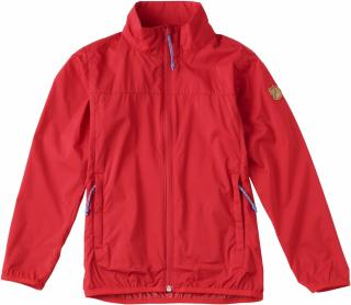 fjellreven kids abisko windbreaker jakke - red