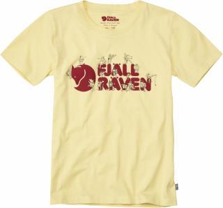 fjellreven kids trek logo t-shirt - pale yellow