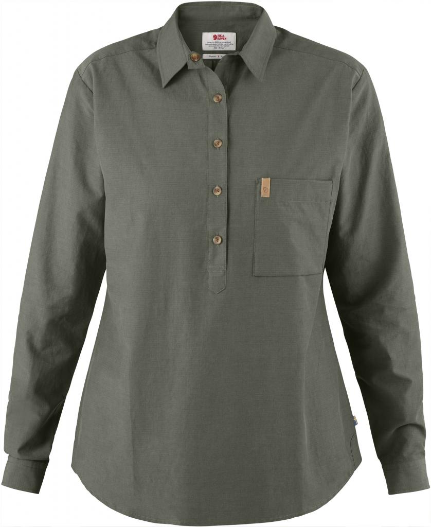 fjellreven kiruna lite shirt ls dame - mountain grey