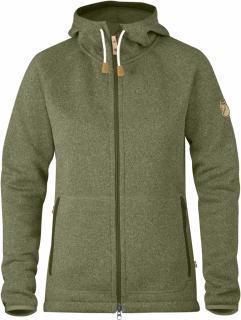 fjellreven Övik fleece hoodie dame - green
