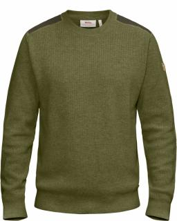 fjellreven sörmland crew sweater - dark olive