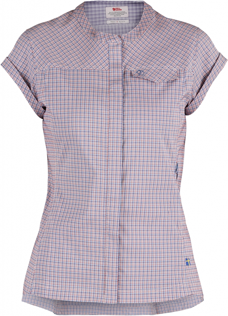 fjellreven abisko stretch shirt cs dame - blue ridge