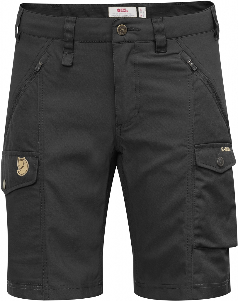 fjellreven nikka shorts curved - black