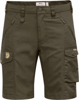 fjellreven nikka shorts curved - dark olive
