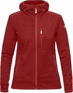 fjellreven keb fleece hoodie dame - lava