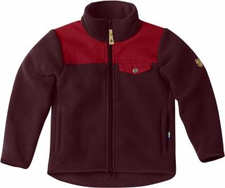 fjellreven kids singi fleece jakke - dark garnet