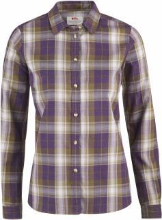 fjellreven Övik flannel shirt dame - alpine purple