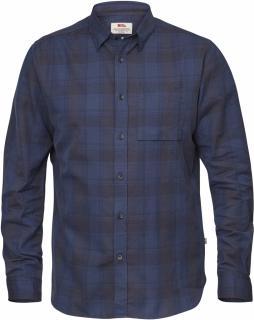 fjellreven Övik flannel shirt ls - storm