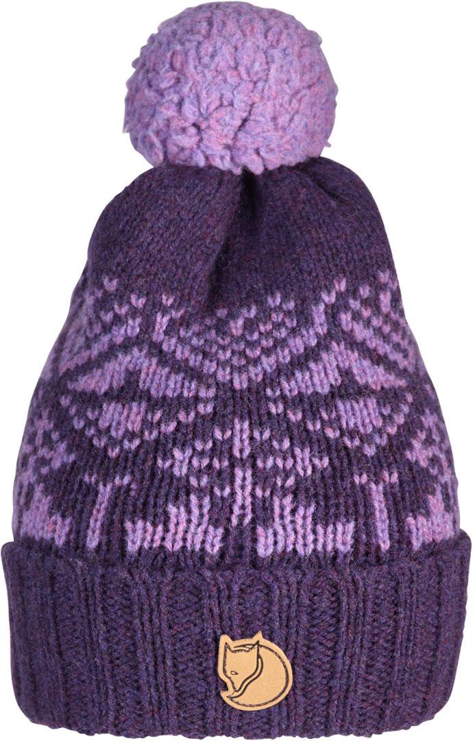 fjellreven snow ball hat - alpine purple
