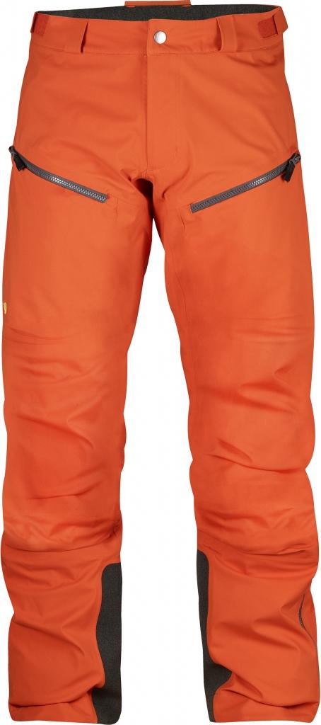 fjellreven bergtagen eco-shell bukse - hokkaido orange