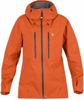 fjellreven bergtagen eco-shell jakke dame - hokkaido orange