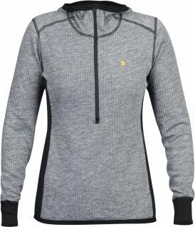 fjellreven bergtagen woolterry hoodie dame - grey