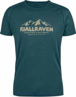 fjellreven abisko trail t-shirt print herre - glacier green