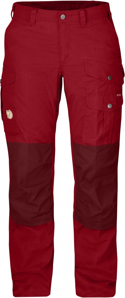 fjellreven barents pro trousers short dame - deep red