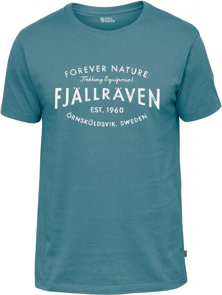 fjellreven fjällräven est. 1960 t-shirt herre - lagoon
