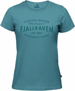 fjellreven fjällräven est. 1960 t-shirt dame - lagoon