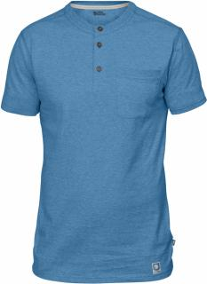 fjellreven greenland buttoned ss herre - azure blue