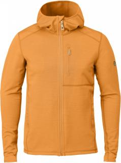 fjellreven keb fleece hoodie herre - seashell orange